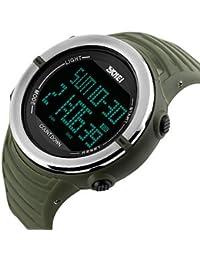 Lemumu 1209Hombres Mujer Ver Deportes Multi - Función Deportes impermeable reloj Relojes electrónicos de 50 metros
