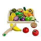 jerryvon Cortar Frutas Verduras Juguetes Frutas y Verduras Juguete para Cortar Cocinas de Juguete Para Niños Juguete de Cocina Regalos para Cumpleaños Infantiles