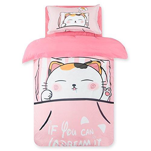 LKKLILY-Home Textil Kinder Bett Produkt Bett-Set Kindergarten DREI Sets von 1Quilts, 2Kissenbezüge, Seven, Twin (173 * 218) Two Piece Set - Ashley Tröster-sets