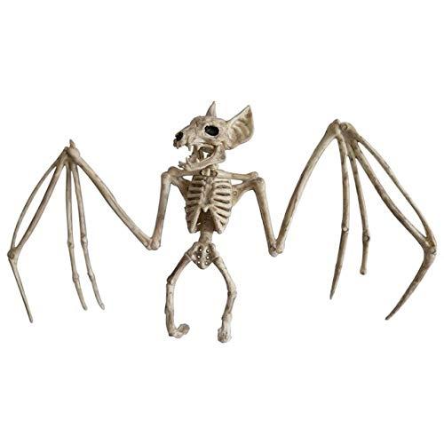 WSCOLL Halloween Dekoration Tierskelett Knochen Requisiten Party Gruselig Spinnenschläger Maus Skorpion Eidechse Knochen Ornamente Halloween HorrorFledermaus (Viele Eidechse Kostüm)
