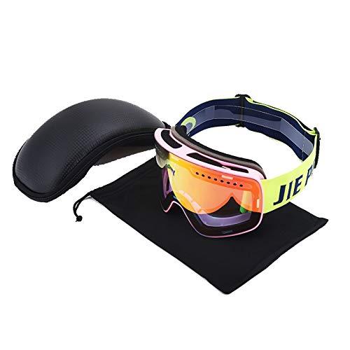 MaxAst Sonnenbrille Motorradbrille Vintage Sicherheitsbrille Damen Rosa Rot