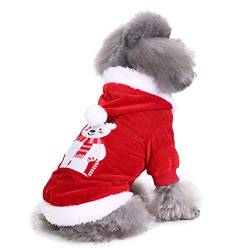 Pet Dog Kostüm Kleidung PET-Outfit Anzug Hoodie Für Katze Kleine Hunde Party Halloween-Accessoire,Bear,XL