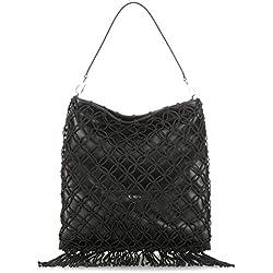 HUGO West Shoulder Bag, Sacs portés épaule femme, Noir (Black), 2x40.5x40 cm (B x H T)