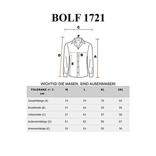 BOLF Herrenhemd Langarm Hemd Figurbetont Freizeithemd Klassisch 1721 Rosa