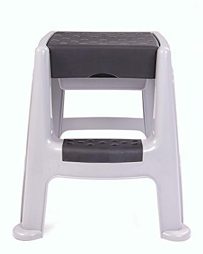 Ondis24 stabiler Hocker mit Trittleiter Sitzhocker mit Staufach, sicherer Stand