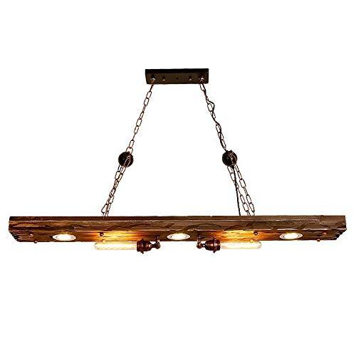 YFMYY Bauernhaus Beleuchtung Distressed Holzbalken rustikale Kronleuchter Leuchte - Einbau Holzbalken Deckenleuchte (5 Licht) - ideal for Kücheninsel Beleuchtung, Bar, Industrie, Billard und Foyer
