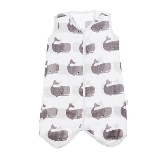 Unbekannt Sharplace Baby-Schlafsack | Schlafsack Kinderschlafsack ärmellos aus Baumwolle - Wal, 2-3T