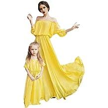 vestidos mujer casual,Nueva familia Vestido de verano madre hija vestido largo mujeres ropa casual