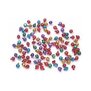 100 Jewel Colour 6mm Mini Jingle Bells | Craft Bells