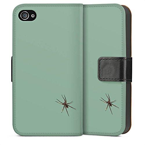 Apple iPhone 6 Housse Étui Silicone Coque Protection Araignée Insecte Araignée Sideflip Sac