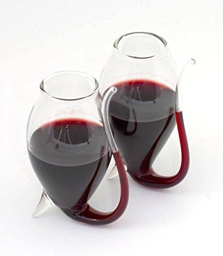 Port Sipper Gläser von bar Originale (Paar)-aus dem 17. Jahrhundert, Verwenden Sie den Auslauf, den Anschluss von der Unterseite der Glas trinken. - Port Sippers