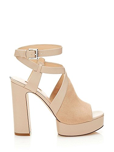 Guess Donna FLLYA1 SUE09 Nero Sandalo Primavera/Estate Beige