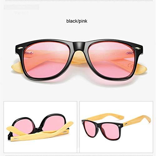 ZYG999Design Wooden Sunglasses Men's Bamboo Sunglasses Ladies Sports Gold Mirror Neutral Style Sunglasses Square Tone