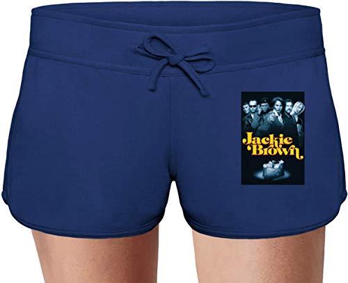 Movie Stars Merchandise Jackie Brown Summer Sweat Shorts for Women & Ladies | 80% Cotton-20% Polyester Fashion Unique & Custom Briefs, Bermudas, Underpants, Slacks & Sports Clothing by X-Large -