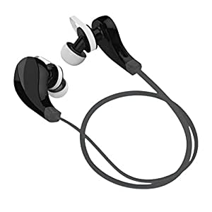 7dayshop Sport V4.0+EDR Bluetooth Wireless Sport Stereo Earbuds Headphones Headset with Mic - Funk Black