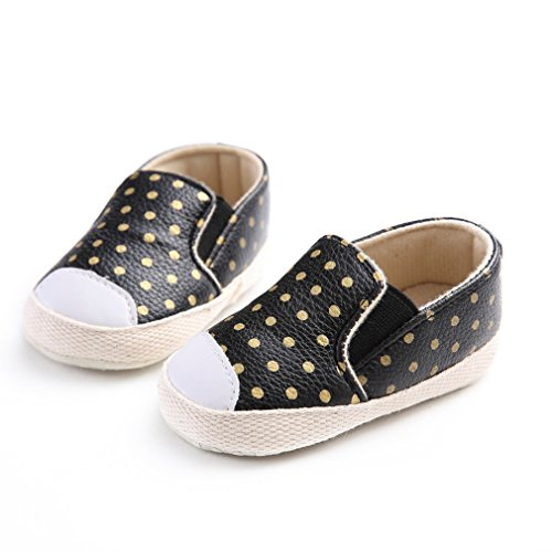 EOZY Babyschuhe Weiche Rutschfeste Schuhe Sneaker Krippe Schuhe Schwarz