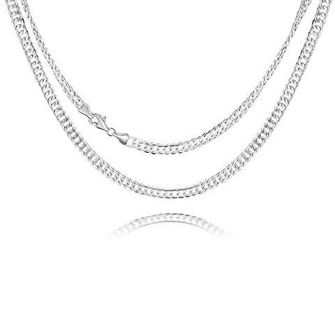 Schmuck Herren Kette, 925 Sterling Silber, Figarokette, Figaro Halskette Länge 24 Zoll