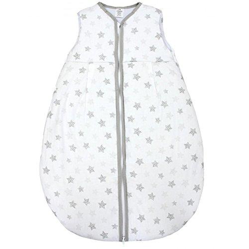 TupTam Baby Schlafsack Wattiert ohne Ärmel ANK001, Farbe: Tupfen-Sterne Grau, Größe: 62-74
