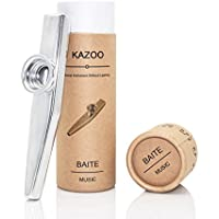 Exquisite Aluminum Alloy Kazoo with A Beautiful Gift Box(A good companion for a guitar, ukulele)