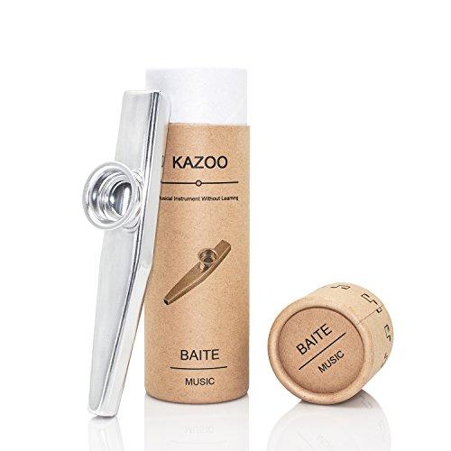 Qualität Metallic Kazoo In Schönes Geschenk verpackt (eine gute Begleiter für eine Gitarre, Ukulele)