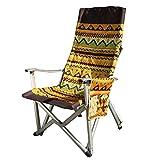 DGEG Klappstuhl, Tragen Leichte Outdoor Indoor Garten Camping Angeln Sitz 52 * 57 * 110 cm (Farbe : Bunte)