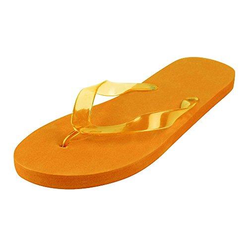 Sandalen Flip Flops - Damen Helle Sommer Schaumstoff Sandalen Orange Gross