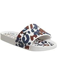 Melissa x Vivienne Westwood Women s Beach Slide Leopard White  Contrast-White-5 Size 5 d0b6531edf3