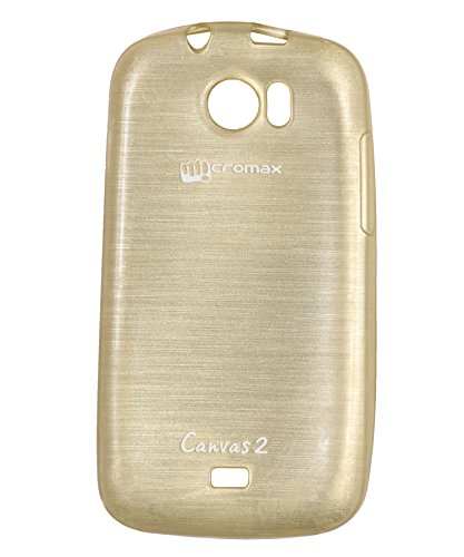 iCandy Soft TPU Shiny Back Cover For Micromax Canvas 2 A110 - Golden  available at amazon for Rs.109