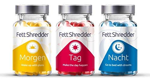 Fettshredder FATBURNER - Abnehmen mit L Carnitin | Grüner Tee | Vitamine | Energiestoffwechsel | Frauen & Männer | 180 Kapseln | Erfolgreich, Schnell, Leicht, Hochdosiert -
