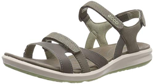 ECCO Damen Cruise II Peeptoe Sandalen, Grau (Warm Grey/Tea 51364), 37 EU