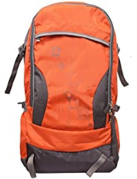 Shams Rucksack Travel Bag Gray And Orange