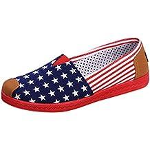 6175a533cf6c4f Femmes Amoureux Décontractée Plat Loafers Chaussures Mode Confort  Espadrilles,Mounter Women Tete Ronde étoile Toile