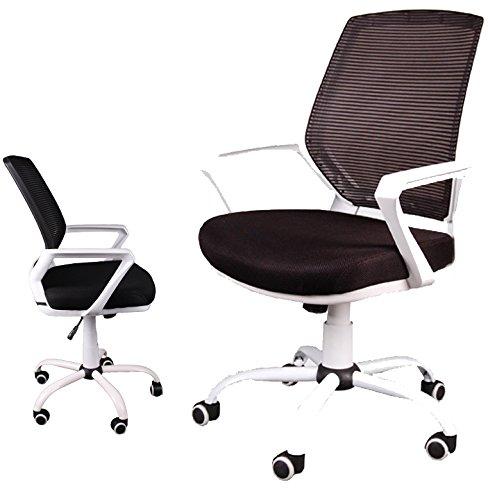 GIOSEDIO Sessel Bürosessel Chefsessel Mesh-Membrane Bürodrehstuhl (Schwarz)