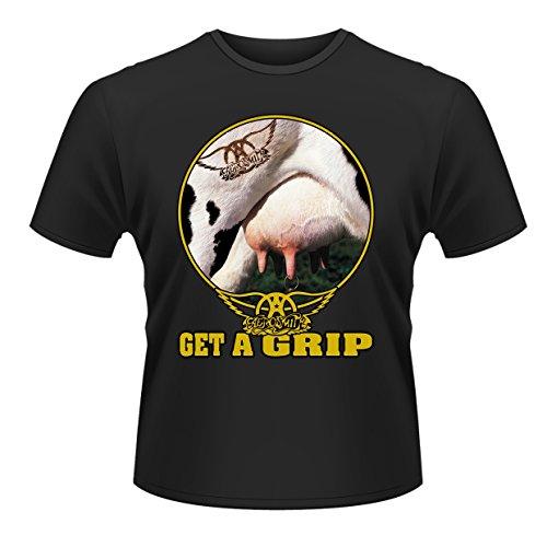 Plastic Head Aerosmith Get A Grip, Camiseta para Hombre, Negro, L