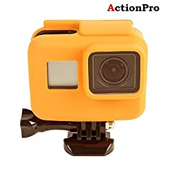 Action Pro Gopro Accessories Orange Silicone Cover Side Frame Case for Gopro Hero 6 5 Action Camera