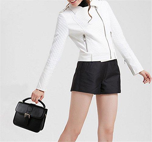 Sacs à main pour femme Xinmaoyuan occasionnels cuir Mesdames sac à main sac de messager d'épaule sauvages Simple Black