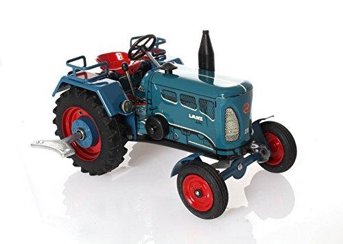 wps Lanz Traktor D 2816 mit Federwerk-Antrieb, blau - Mechanisches Blechspielzeug