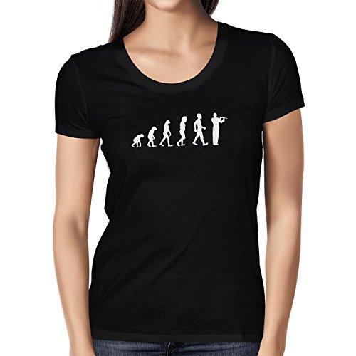Texlab Querflöte Evolution - Damen T-Shirt, Größe XL, Schwarz
