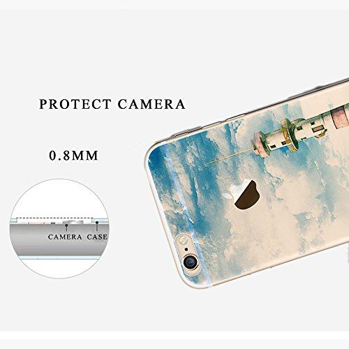 """Tsuger Custodia Morbido per Apple iPhone 6-4.7"""" Case Cavor plastica sottile Trasparente Chiaro TPU Silicone Gel Bumper + shell plastica PC Cassa Caso Protezione Cellulare Anti Scivolo Ammortizzante--i 10"""