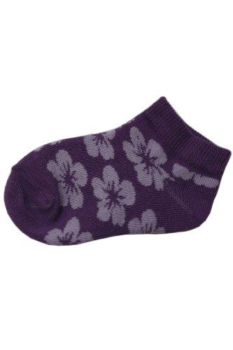 Socks Verkürzt - Tropischen Blumen Motiv. 7-8 Jahre Größe: 32-34, Farbe: Flieder (Hochwertige Qualiteat und toller Preis direkt von einem Herrsteller)