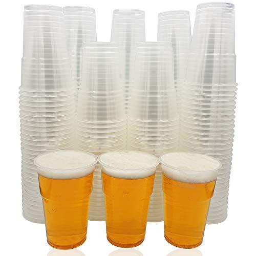Eden Plastikbecher - Einweg Trinkbecher aus Bio-PP für Bier und andere Kaltgetränke - 0.25L (0.3L max) Stabile Bierbecher - Becher ist ideal für Party, Camping, Geburtstag, usw. - 200 Pack