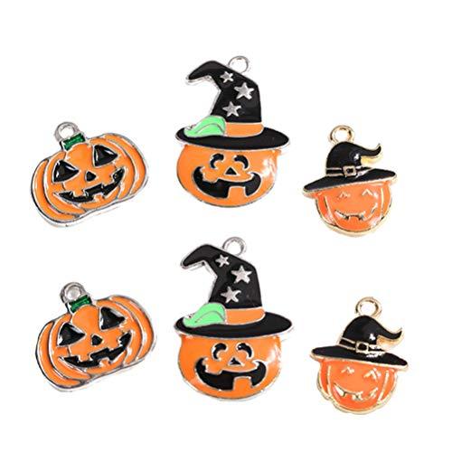 Healifty 15 stücke Halloween Charme Legierung kürbis anhänger Charme Halloween gastgeschenke Geschenke Halskette Armband zubehör für DIY Handwerk schmuck Machen (Silber)