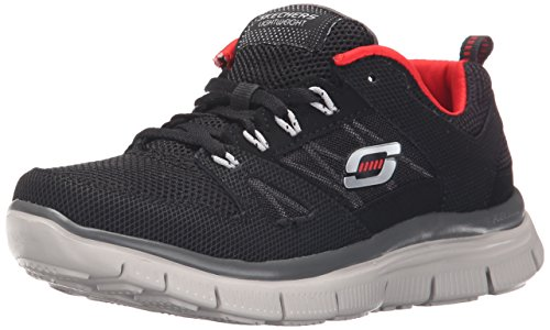 SkechersFlex Advantage - Scarpe Running Ragazzi Negro (Black Red)