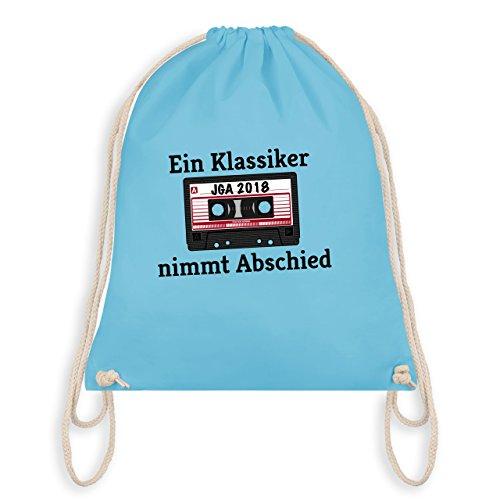 JGA Junggesellenabschied - Ein Klassiker nimmt Abschied - JGA 2018 - Turnbeutel I Gym Bag Hellblau