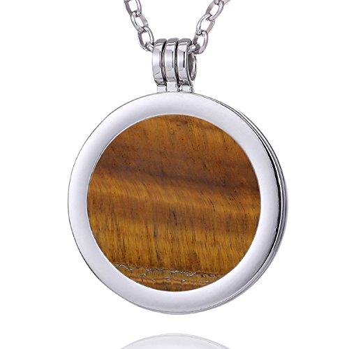 morella-mujeres-collar-70-cm-acero-inoxidable-y-colgante-con-coin-moneda-amuleto-de-piedra-preciosa-