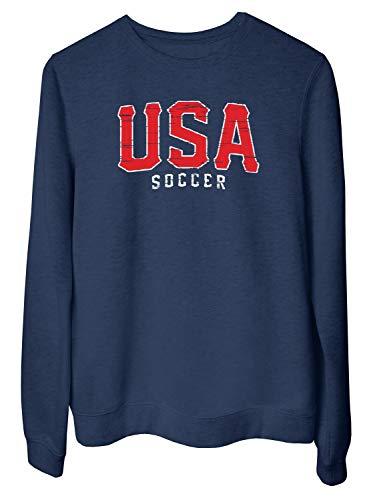 0139beadc T-Shirtshock Felpa Girocollo Donna Blu Navy WC0629 USA T USA Soccer