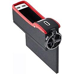 Auto Seat Lücke Tasche Problem Münze Tasche Aufgeräumt Doppel USB mit Getränke Halter Auto Zubehör Haushalt