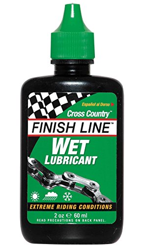 Finish Line Cross Country Wet Cycling Chain Lubricant - 120ml/ Bicycle Cycling Cycle Biking Bike Lube Care Mountain MTB Off Road Racing Race Grease Maintenance Part Component Gear Kit Spare Cross Country Muddy Mud Muck Resistant Cleaner Clean Wax Oil Derailleur Mech Shifter Brake