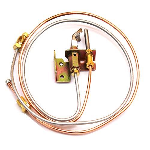 MENSI Wasser-Heizer, Zündbrenner mit Pilot-Thermoelement und Schläuchen LP Propan 1 Stück -