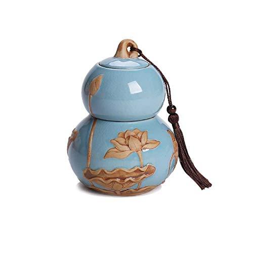 Boîtes à thé AUGAUST en céramique La Conception en Forme de palan Peut séparer Les Parties supérieure et inférieure (Couleur : B, Taille : L)